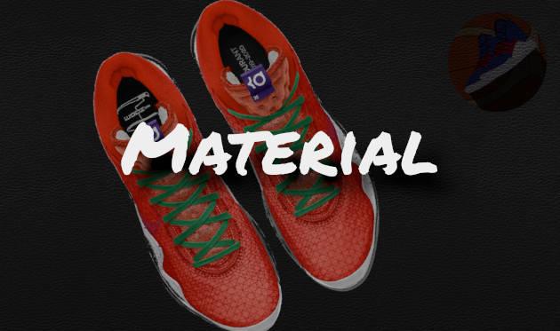 Material des KD12 Basketballschuh von Nike